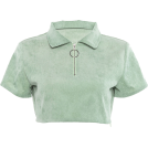 FECLOTHING Shirts -  Short-sleeved umbilical zipper half open