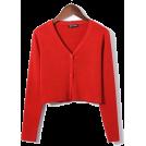 FECLOTHING Cardigan -  Single-breasted V-neck Knit Cardigan