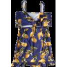 FECLOTHING Dresses -  Sling with lemon print bag hip dress