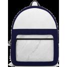 ARTbyJWP Nahrbtniki -  Society6 Backpack Marble White Blue