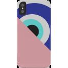 ARTbyJWP Drugo -  Society6 iPhone case Blue eye pink hide