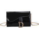 FECLOTHING Messenger bags -  Solid patent leather shoulder messenger