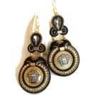 Sabaheta Naušnice -  Soutache earrings made of authentic butt