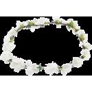 Rocksi Cap -  Stranded WHITE Flower Boho Style Women G