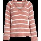 beautifulplace Pullovers -  Stripe V-Neck Sweater &.LAYERED