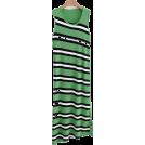 FECLOTHING Dresses -  Striped knit vest maxi skirt