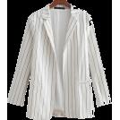 FECLOTHING Bolero -  Striped mid-length ladies blazer