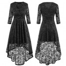 SUNGLORY Dresses -  Sunglory Women's Lace Cocktail Evening Formal Party Dress Retro Irregular Hollow Out Flare Dresses