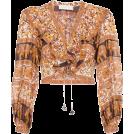 Mees Malanaphy Long sleeves shirts -  Suraya print cotton crop top