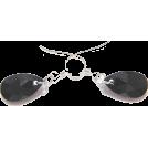Bev Martin Orecchine -  Swarovski Black Pendant Earrings