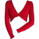 helloexo Camisa - longa -  TWIST CROP SWEATER