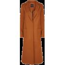 lence59 Jakne i kaputi -  Tan Bar Back Revere Collar Maxi Coat