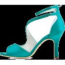 Bev Martin Sandale -  Teal Ankle Strap Sandals