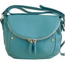 Bev Martin Torbice -  Teal Italian Leather Shoulder Bag