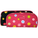 Tommy Hilfiger Accessories -  Tommy Hilfiger 2-Piece Ladies Cosmetic Case Print Set Black Circle/Pink Circle
