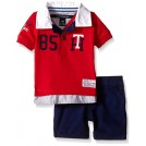 Tommy Hilfiger Magliette -  Tommy Hilfiger Baby Boys' Knit Rugby Polo Shirt and Twill Shorts
