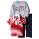 Tommy Hilfiger Pantaloni -  Tommy Hilfiger Baby Boys' Solid Long Sleeve, Polo and Pant Set