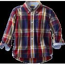 Tommy Hilfiger Long sleeves shirts -  Tommy Hilfiger Boys 2-7 Long Sleeve Chip Plaid Woven Shirt Flag Blue