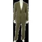 Tommy Hilfiger Abiti -  Tommy Hilfiger Men's 2 Button Trim Fit Suit with Flat Front Pant Olive
