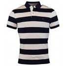 Tommy Hilfiger Magliette -  Tommy Hilfiger Men's Custom Fit Wide Stripes Polo