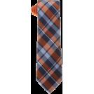 Tommy Hilfiger Tie -  Tommy Hilfiger Men's Satin Bar Stripe Necktie Orange