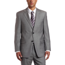 Tommy Hilfiger Abiti -  Tommy Hilfiger Men's Two Button Trim Fit 100% Wool Suit Separate Coat Grey solid