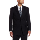 Tommy Hilfiger Abiti -  Tommy Hilfiger Men's Two Button Trim Fit 100% Wool Suit Separate Coat Navy Slim Stripe