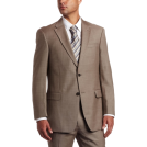 Tommy Hilfiger Abiti -  Tommy Hilfiger Men's Two Button Trim Fit 100% Wool Suit Separate Coat Tan solid