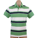 Tommy Hilfiger Shirts -  Tommy Hilfiger Mens Classic Fit Short Sleeve Striped Logo Polo Shirt Green/White/Navy