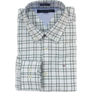 Tommy Hilfiger Shirts -  Tommy Hilfiger Mens Long Sleeve Custom Fit Button Front Shirt White/Green/Blue/Black