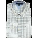 Tommy Hilfiger Shirts -  Tommy Hilfiger Mens Long Sleeve Custom Fit Button Front Shirt White/Pink/Blue/Black