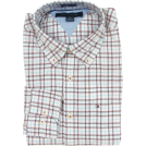 Tommy Hilfiger Shirts -  Tommy Hilfiger Mens Long Sleeve Custom Fit Button Front Shirt White/Red/Blue/Black