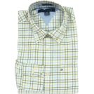 Tommy Hilfiger Long sleeves shirts -  Tommy Hilfiger Mens Long Sleeve Custom Fit Button Front Shirt White/Yellow/Blue/Black