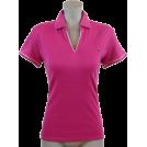 Tommy Hilfiger Shirts -  Tommy Hilfiger Women Classic Fit Buttonless Logo Polo Shirt Deep Pink