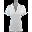 Tommy Hilfiger Shirts -  Tommy Hilfiger Women Classic Fit Buttonless Logo Polo Shirt White/Light Blue