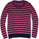 Tommy Hilfiger Pullovers -  Tommy Hilfiger Women Striped Crewneck Sweater Pullover Strong pink/navy