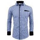 Tom's ware Long sleeves shirts -  Tom's Ware Mens Classic Slim Fit Vertical Striped Longsleeve Dress Shirt