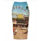 sandra  Gonne -  Topshop photoprint skirt