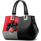 Sabaheta Schnalltaschen -  Tri Color Combination Faux-Leather Tote