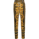carola-corana Capri & Cropped -  VERSACE high waist patterned skinny jean