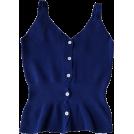 FECLOTHING Vests -  V-Neck Large Halter Single-Line Buttoned
