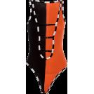 FECLOTHING Fatos -  Vest deep V plaid contrast casual jumpsu
