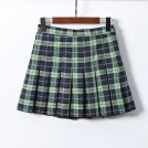FECLOTHING Skirts -  Vintage Purple Plaid High Waist Pleated