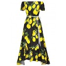 Ruiyige Dresses -  Vintage Retro Women Ladies Floral Off Shoulder Maxi Swing Party Evening Long Dress