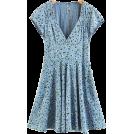 FECLOTHING Dresses -  Vintage floral dress V-neck halter dress