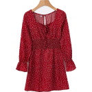 FECLOTHING Dresses -  Vintage red polka dot square neck dress