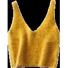 FECLOTHING Vests -  V-neck mohair short knit vest