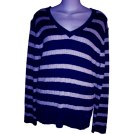 Tommy Hilfiger Pullovers -  WOMEN'S TOMMY HILFIGER SHIRT SIZE XL (NAVY/GRAY STRIPED)