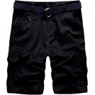 Wantdo Shorts -  Wantdo Men's Belted Relaxed Cotton Cargo Shorts