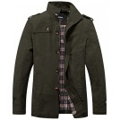 Wantdo Outerwear -  Wantdo Men's Stand Collar Cotton Classic Jacket